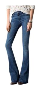 American Eagle Outfitters Hi-rise Stretchy New Flare Leg Jeans-Dark Rinse