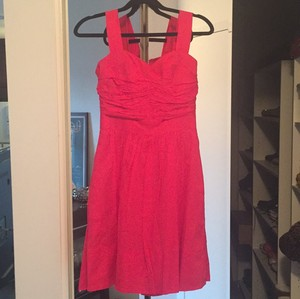 Dessy Fuschia Pink Dessy Group Fuschia Cotton Bridesmaid Dress Dress