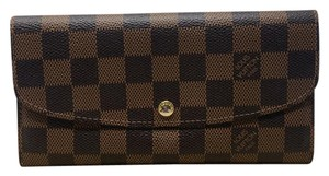 Louis Vuitton Louis Vuitton Damier Monogram Portefeuille Emilie Long Wallet Rouge