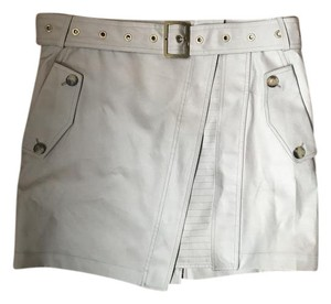 Salvatore Ferragamo Runway Mini Mini Skirt Beige