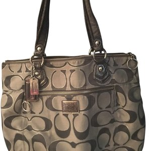 Coach Tote in silver/charcoal