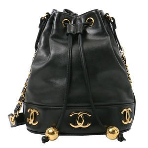 Chanel Vintage Lambskin Bucket Shoulder Bag