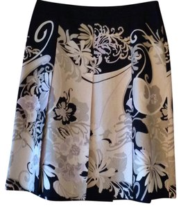 Ann Taylor Skirt Black, Cream, Taupe and Lavender