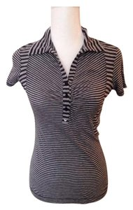 Emporio Armani Striped Tee T Shirt navy and gray