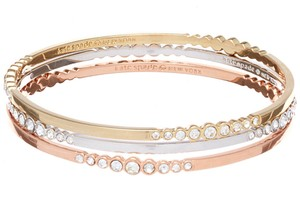 Kate Spade NWT KATE SPADE FULL CIRCLE BANGLE SET 3 BRACELET W DUST BAG $108 GOLD
