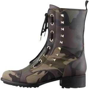 Valentino Biker Combat Camo (green, brown, black) Boots