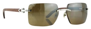 Cartier * CARTIER C DECOR SUNGLASSES BUBINGA WOOD