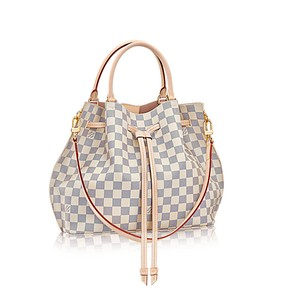 Louis Vuitton Girolata Damier Azur Satchel in Rose Ballerine / Pink