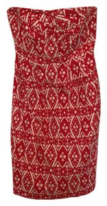J.Crew short dress red and white on Tradesy