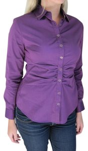 New York & Company Button Down Shirt Purple