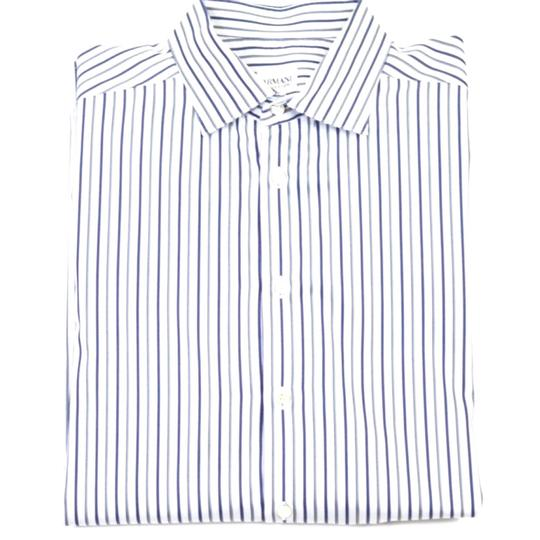 Preload https://img-static.tradesy.com/item/21048705/armani-collezioni-white-navy-and-grey-stripe-button-dress-shirt-0-0-540-540.jpg