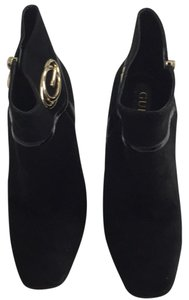 Guess Suede Gold Hardware Stiletto Black Suede Boots
