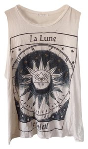 Urban Outfitters Muscle Tee Luna Moon Bohemian Graphic T Shirt Ivory