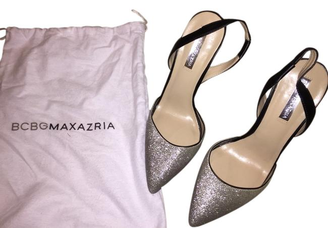 Item - Silver Platform Pumps Size US 8.5 Regular (M, B)