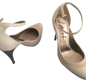 Lanvin leather and snake gold heels Pumps