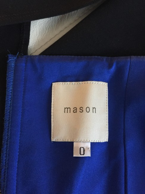 Mason Leather Dryclean Only Color-blocking Dress