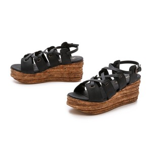 Free People Black Wedges