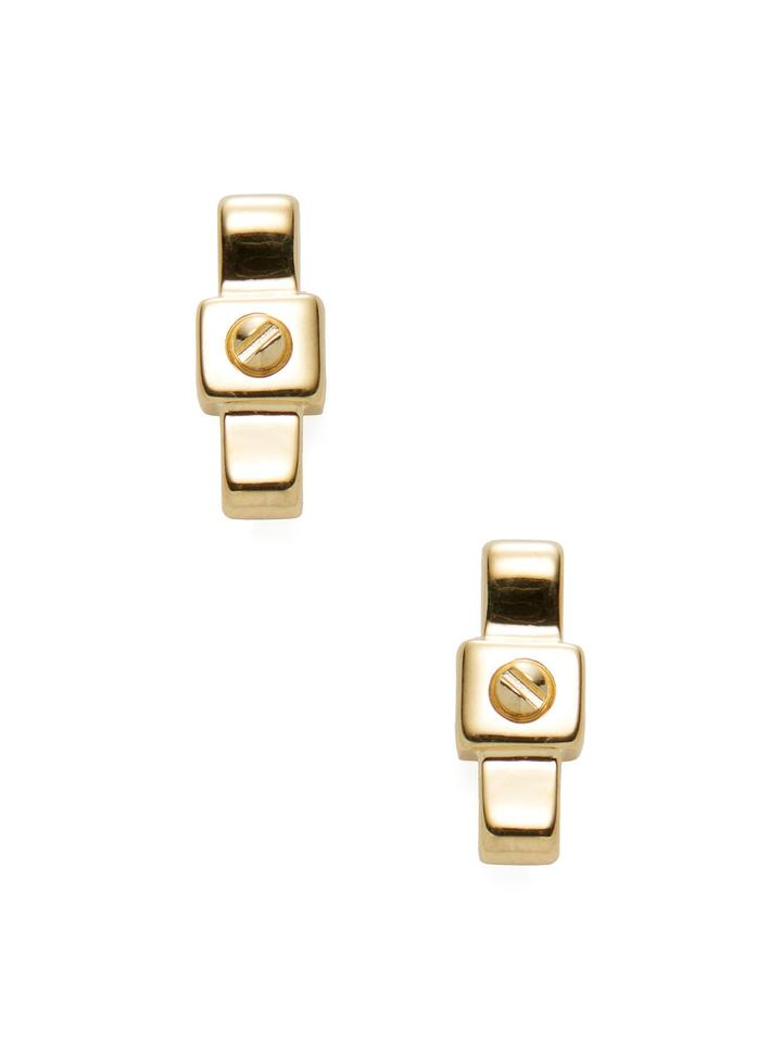 Marc Jacobs By Jewelry Bow Tie Stud Earrings Gold