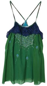 Free People Top blue /green