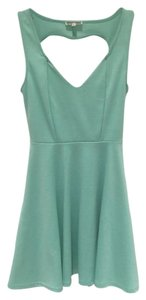 Kirra short dress Teal Open Back Skater Cute on Tradesy