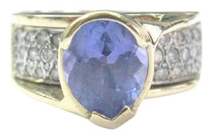 Other Fine Gem Tanzanite Diamond Yellow Gold Jewelry Ring 14Kt 3.53Ct