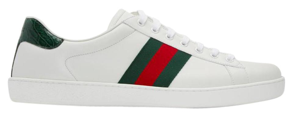 8d55830ecf2 Gucci White Leather Stripe New Ace Sneakers Size US 9 Regular (M