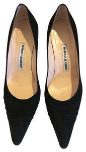 Manolo Blahnik Manolo Heels Suede Jimmy Choo Christian Louboutin Black Pumps