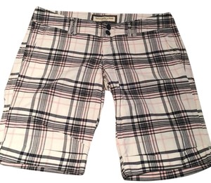 Abercrombie & Fitch Bermuda Shorts white pink blue