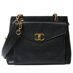 Chanel Vintage Caviar Tote in black