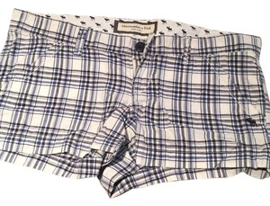 Abercrombie & Fitch Mini/Short Shorts white and blue