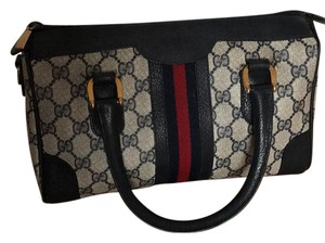 Gucci Satchel in black, gray, red