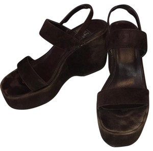 Nine West dark brown Wedges