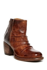 Bed|Stü Teak/Tan Pleated Bootie Boots