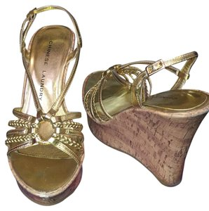 Chinese Laundry Gold Wedges
