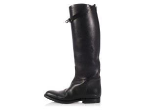 Hermès Buckles Hr.l0202.06 Tall Riding Knee High Boots