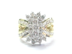 Other Fine Round Cut Diamond Cluster Yellow Gold Jewelry Ring 2.00Ct G - VS