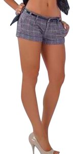Abercrombie & Fitch Cuffed Shorts Tan / Navy