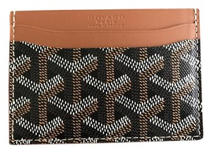 Goyard Black and Tan Classic Saint Sulpice Card Holder