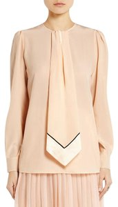 Givenchy Silk Luxe Luxury Neck Tie Top Pale Pink