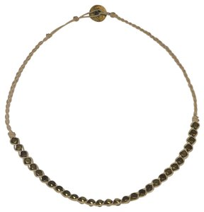 Fossil choker beaded necklace