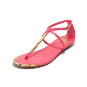 Dolce Vita Faux Leather Thong gold and pink Sandals
