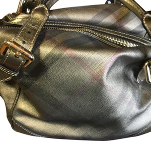 Burberry Satchel in Gold Check