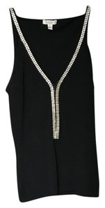 Cache Top Black with Rhinestones