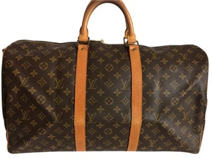 Louis Vuitton Lv Keepall 55 Monogram Keepall Bandouliere Neverfull Bandouliere 55 Brown Travel Bag