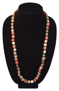 "Les Bernard Conch Red Abalone 30"" Necklace"