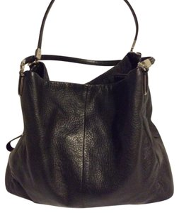 Coach Multi Compartments Leather Satchel in black