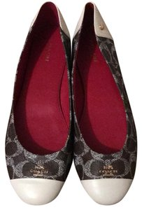 Coach Red and white coach flats Flats