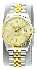Rolex * Rolex Ref 16013 Datejust 18K Gold and Stainless Steel Unisex Watch