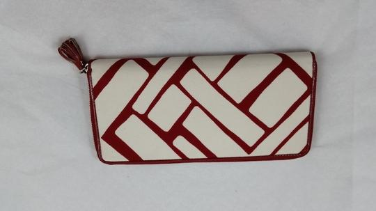 Cole Haan Red and White Clutch