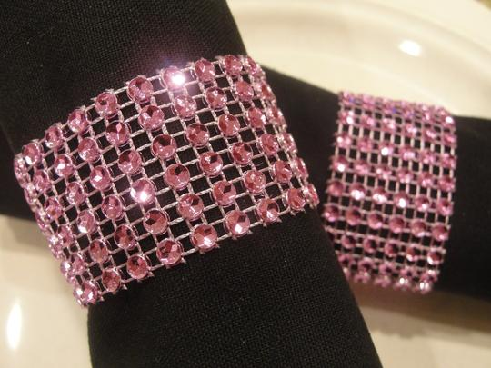 Lilac / Lavander Rhinestone Style Napkin Rings Reception Decorations